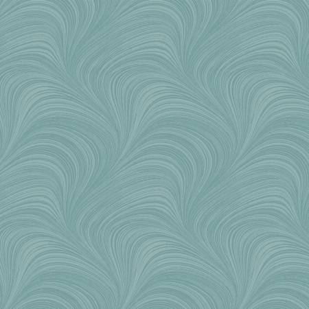 Teal Pearlescent Wave Texture