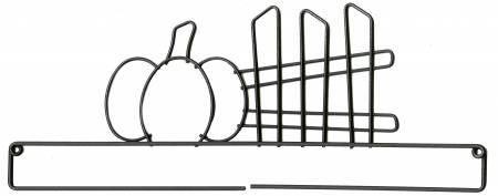 12in Pumpkin & Fence Screw Craft Holder