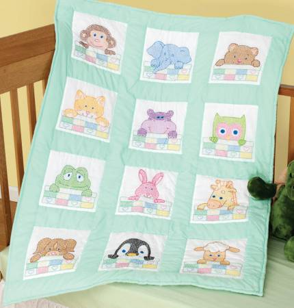 peek-a-boo nursery quilt block set