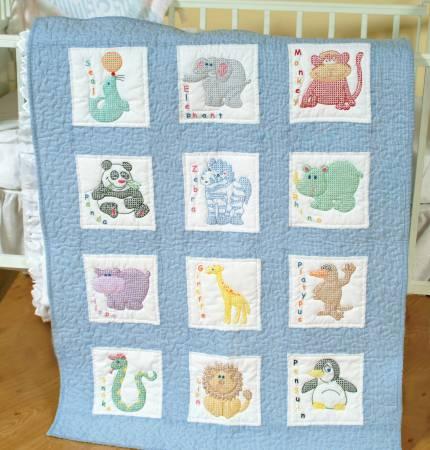 childrens zoo quilt block set