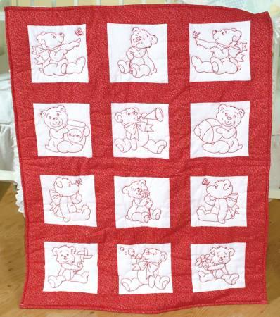 baby bears quilt block set