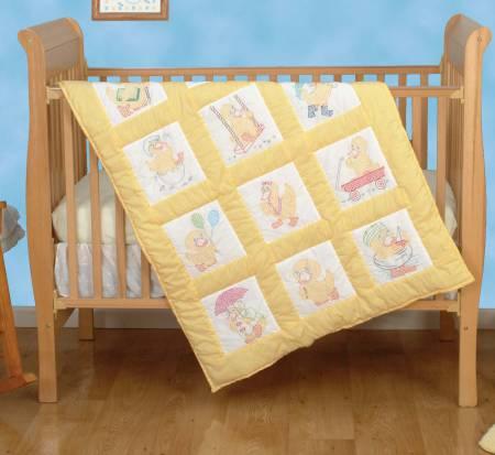 baby ducks quilt block set