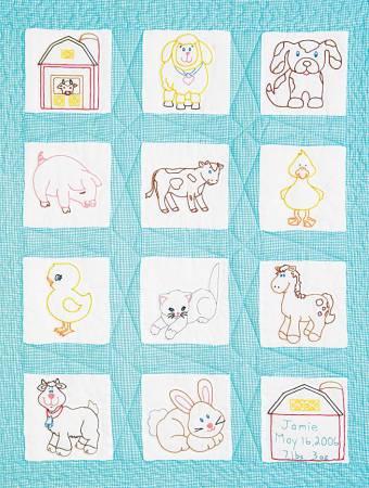 QLT BLOCK SET 9' FARM ANIMALS