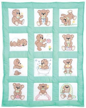Nursery Quilt Block Teddy Bear