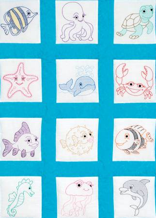 Nursery Quilt Squares Under The Sea