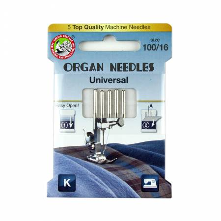 Organ Universal Needle Size 100/16 5pk - 3000104