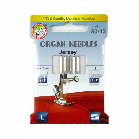 Organ Needles Jersey Size 80/12 Eco Pack