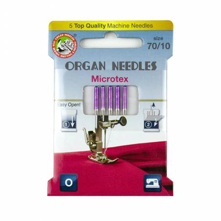 Organ Needles Microtex Size 70/10 Eco Pack