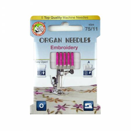 Organ Needles Embroidery Size 75/11 Eco Pack