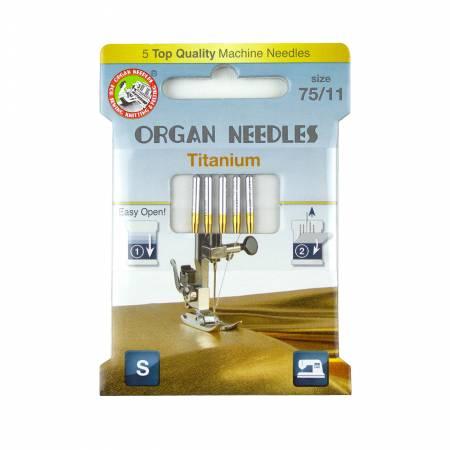 Organ Needles Titanium Size 75/11 Pack