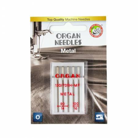 Organ Needles Metal Assortment (3ea 90, 2ea 100) Blister Pack