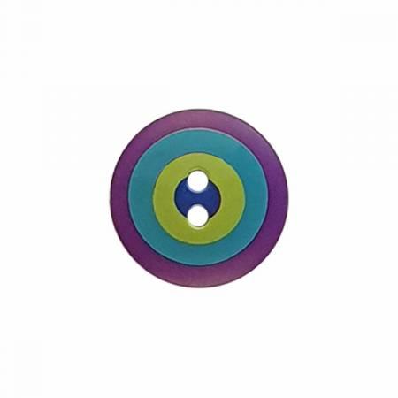 Kaffe Fassett Button Target Pur/Turq/Lime Lg 20MM