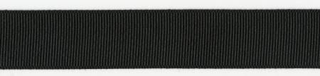 Grosgrain Ribbon Black -7/8in