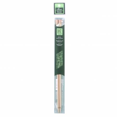 Clover Takumi Bamboo 13in Single Point Knitting Needle Size 10.5