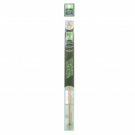 Clover Takumi Bamboo 13in Single Point Knitting Needle Size 5