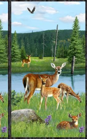 Multi Oh Deer Large Panel