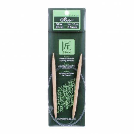 Clover Takumi Bamboo 36in Circular Knitting Needle Size 10.5