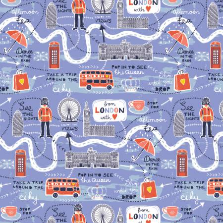 From London With Love Lavender Map