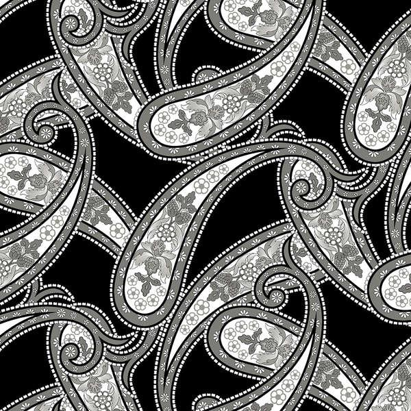Black/Grey Paisley