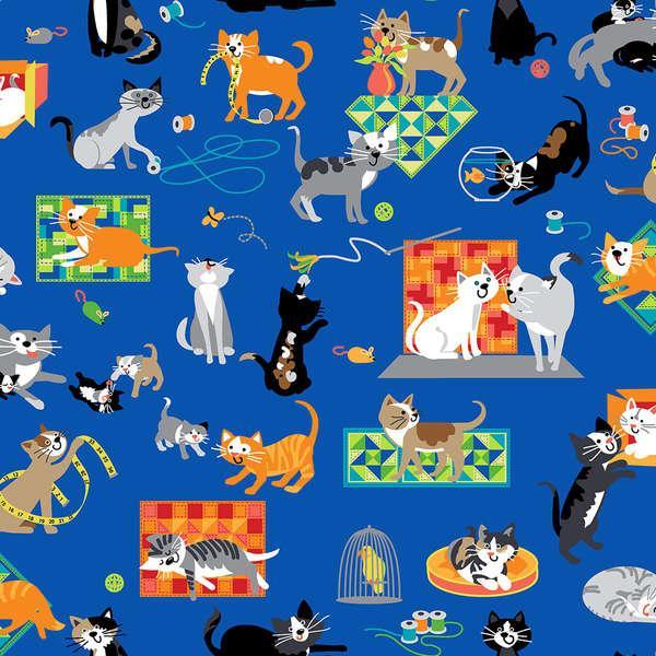 A Cat Tail - Blue