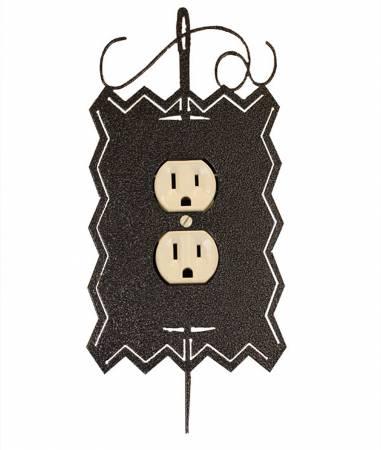 Hand Painted Needle & Thread Single Outlet Cover