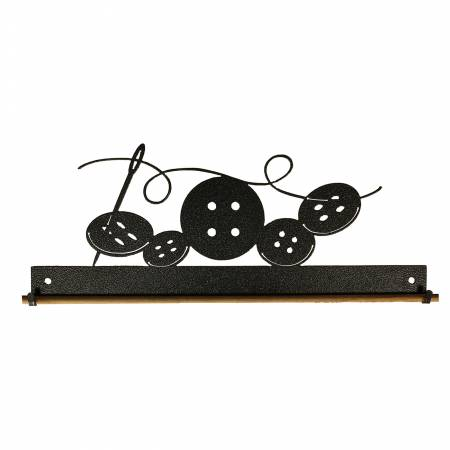 Ackfeld 12in Buttons Fabric Holder Charcoal 6526 *