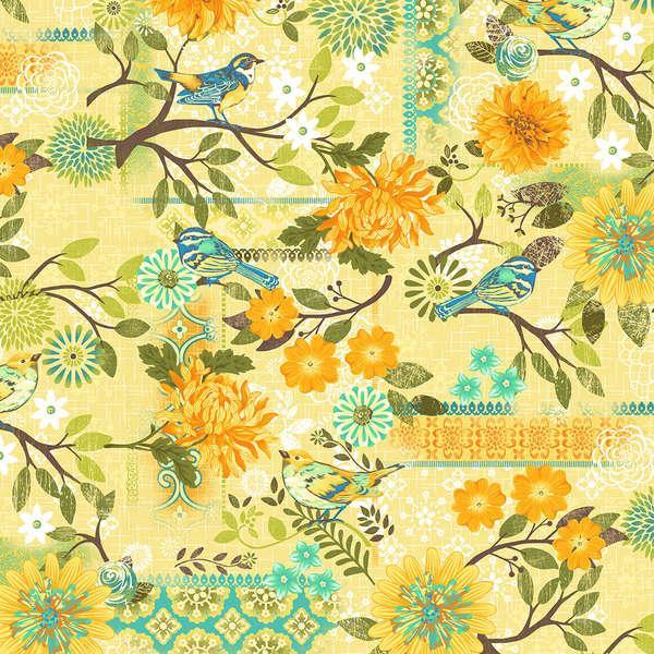 Studio E Fabrics-Blue Bird  3084-33