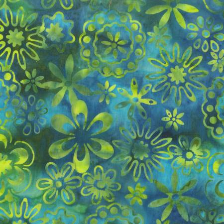 De Jonge - Emerald Bloom Batik