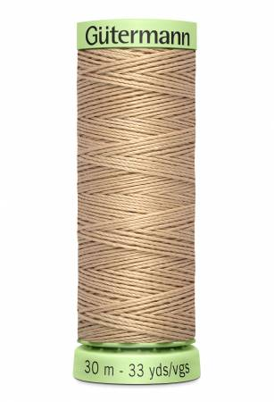 Heavy Duty Polyester Topstitching Thread 30m/33yds Flax