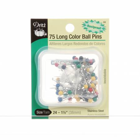 DRITZ LONG COLOR BALL PINS