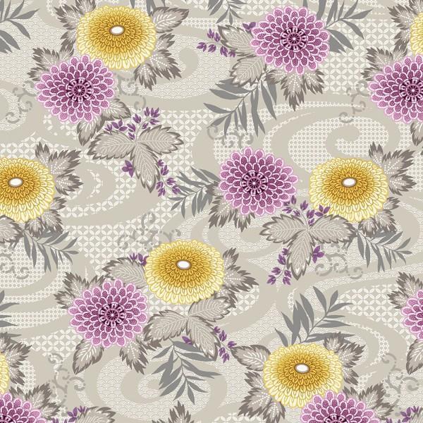 Dove Grey Floral