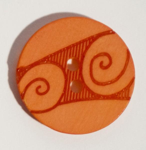 18 mm Scroll Button Orange