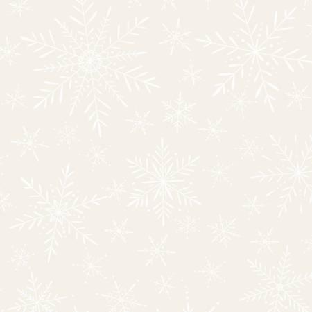 Soft White Delicate Snowflakes
