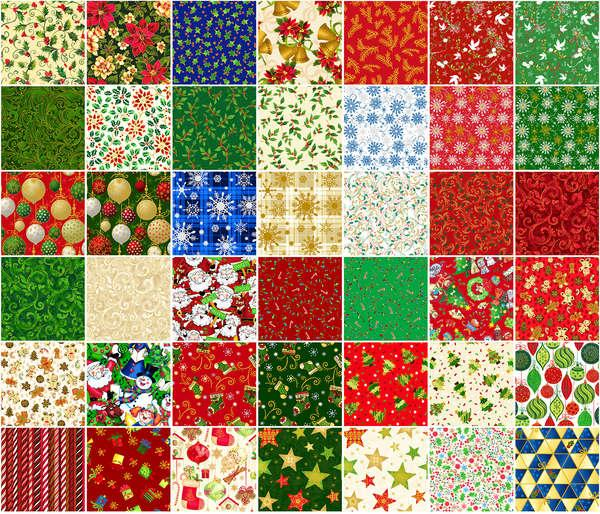 Fabri-Quilts Season's Greetings  Snack Pack  2-1/2in x 44in Strips 42pcs