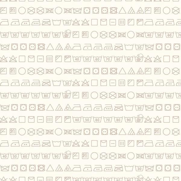 Small Talk 3143 Taupe Laundry Symbols