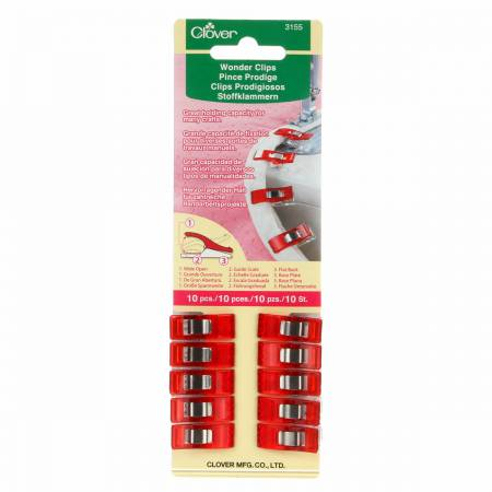 Clover Wonder Clips Red 10ct