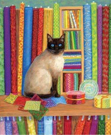 Quilt Shop Cat 1000pc puzzle
