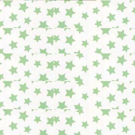 Light Green Stars on White:  Brights & Pastels Basics by Windham