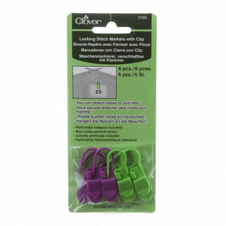 Locking Stitch Markers With Clip