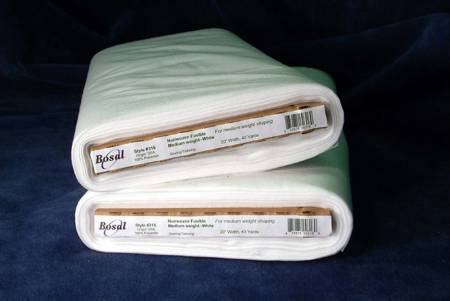 Bosal 316B-WHT Medium Weight   Non-Woven Fusible White (20in wide)