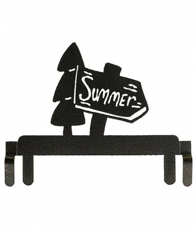 6in Summer Sign Header Charcoal