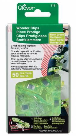 Wonder Clips Neon Green 50pc