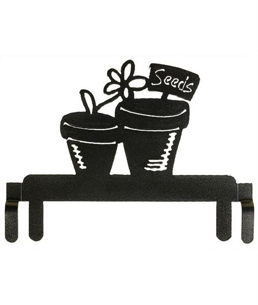6in Flower Pot Header Charcoal
