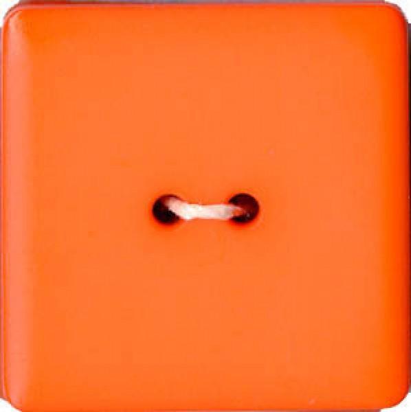 Square 2-Hole Polyamide Button Orange 1in
