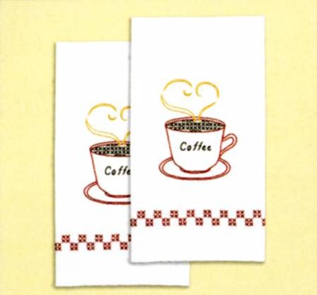 Coffee Time - Set of 2 Hand Towels