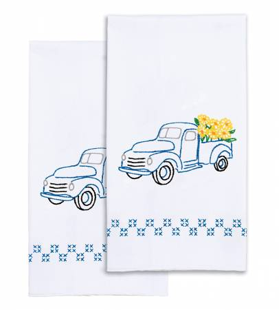 Flower Delivery - Set of 2 Hand Towels