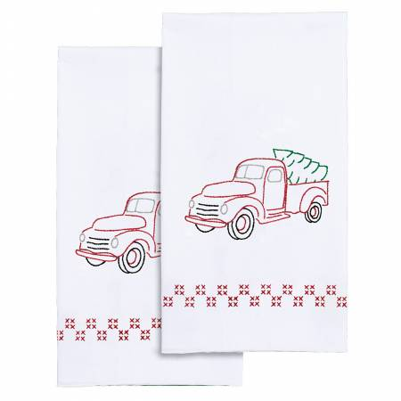 Old Truck - Set of 2 Hand Towels