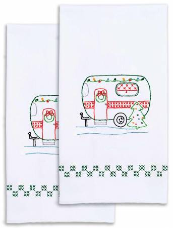 Christmas Camper Decorative Hand Towel