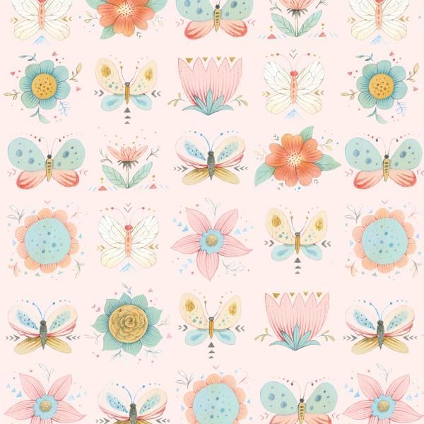 Pink Set Floral
