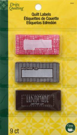 Dritz Sew In Embroidered Labels Handmade